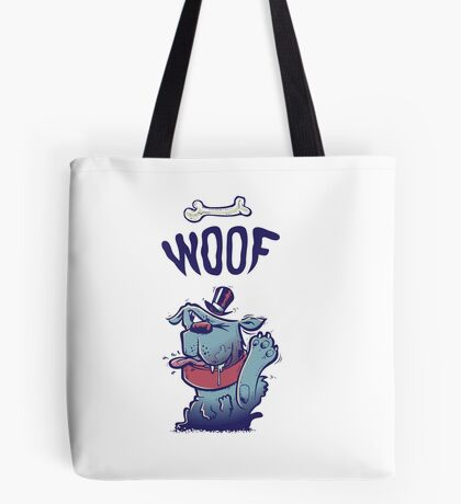 Woof Top Hat Dog Tote Bag