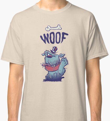 Woof Top Hat Dog Classic T-Shirt