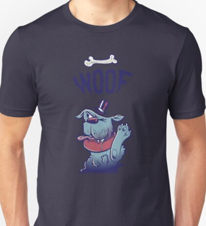 Woof Top Hat Dog T-Shirt