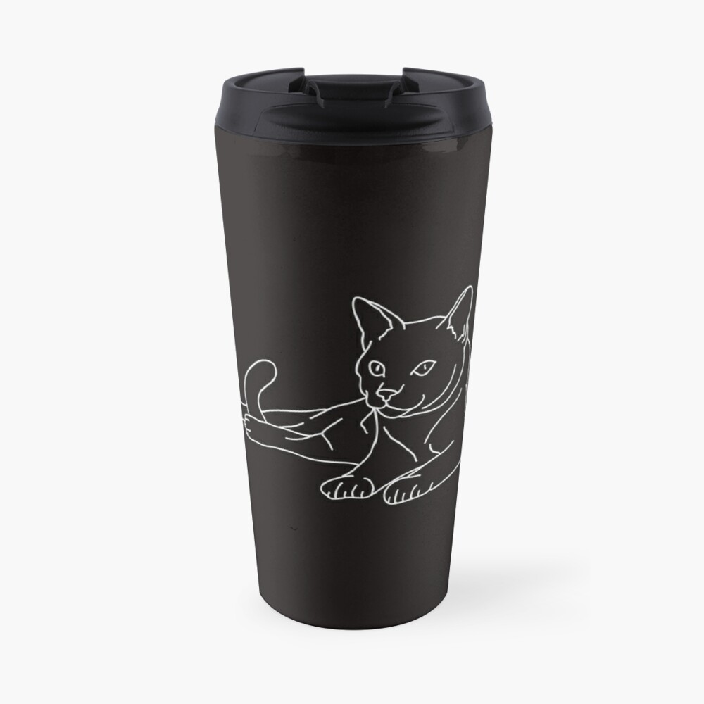 Cute Cat (White) Travel Mug