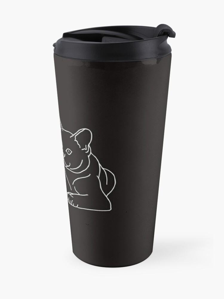 Alternate view of Cute Cat (White) Travel Mug