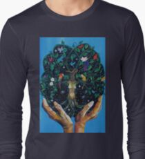 Gaia-Tree of Life Long Sleeve T-Shirt