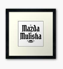 Mazda Mulisha Framed Print