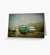Low Tide at Newquay Greeting Card