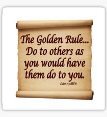 THE GOLDEN RULE Sticker