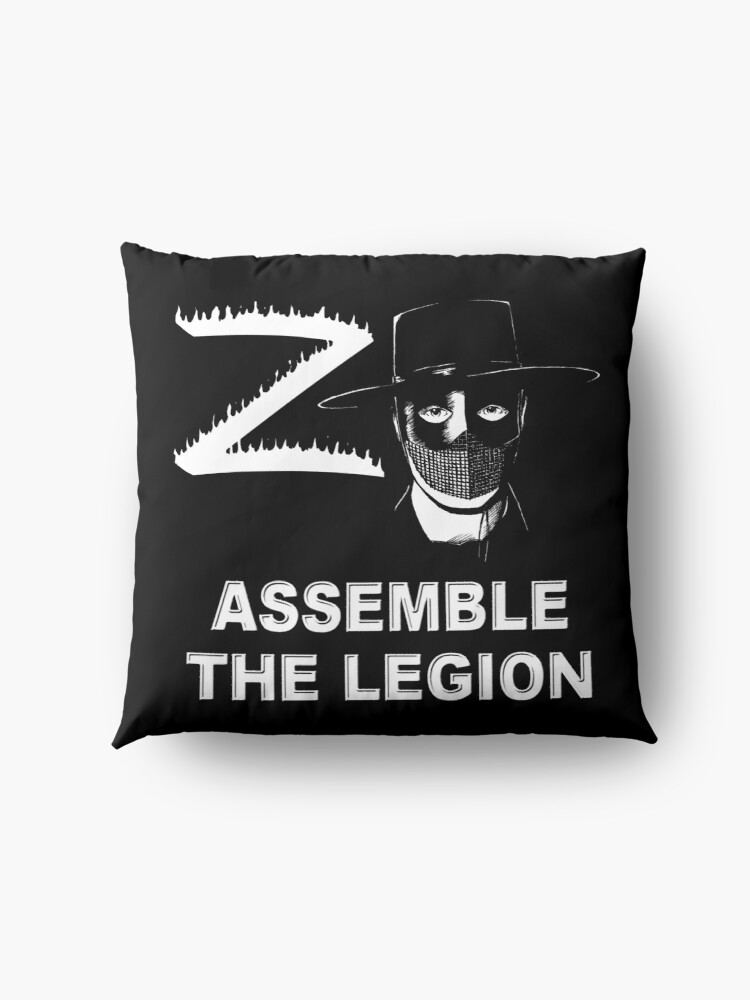 Alternate view of Zorro - Assemble the Legion Floor Pillow