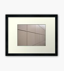 Beige wall of the large decorative tiles Framed Print
