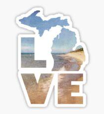 Love in Michigan Sticker