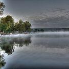 Mist on Honeoye by Raider6569