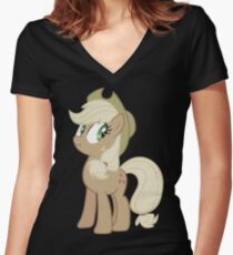 Applejack lies Women's Fitted V-Neck T-Shirt