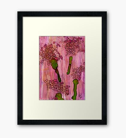 Small Clusters Framed Print