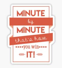Minute by Minute Sticker