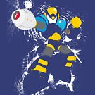 Flash Man Splattery Vector T by thedailyrobot
