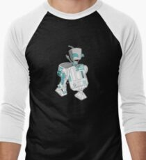 Two little robots - colour version Men's Baseball ¾ T-Shirt