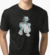 Two little robots - colour version Tri-blend T-Shirt
