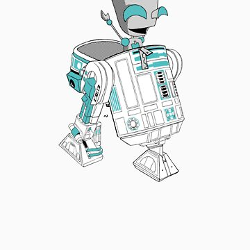 Two little robots - colour version by Eriphyle