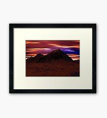 Mountain Winter's Night Framed Print
