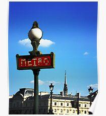 The Metro - Paris Poster