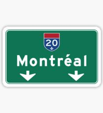 Montreal, Road Sign, Canada  Sticker