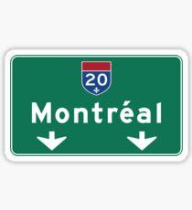 Montreal, Verkehrsschild, Kanada Sticker