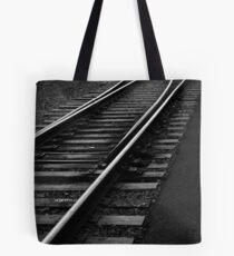 Tracks at Sunset - Lake Placid New York Tote Bag