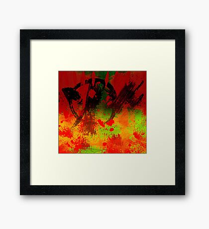 Darkness Robbed the Sun One Day Framed Print