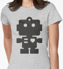 Robot - Simple Black Women's Fitted T-Shirt