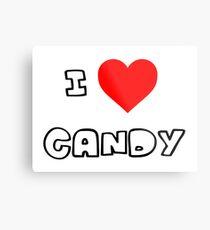 I Heart Candy Metal Print
