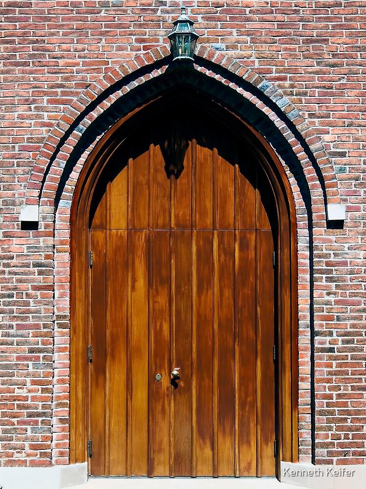 Gothic Wooden Church Door by Kenneth Keifer