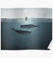 At sea. Poster