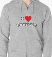 I Heart Cookies Zipped Hoodie