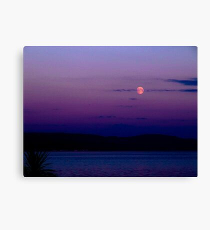 Moon over the Clyde Canvas Print