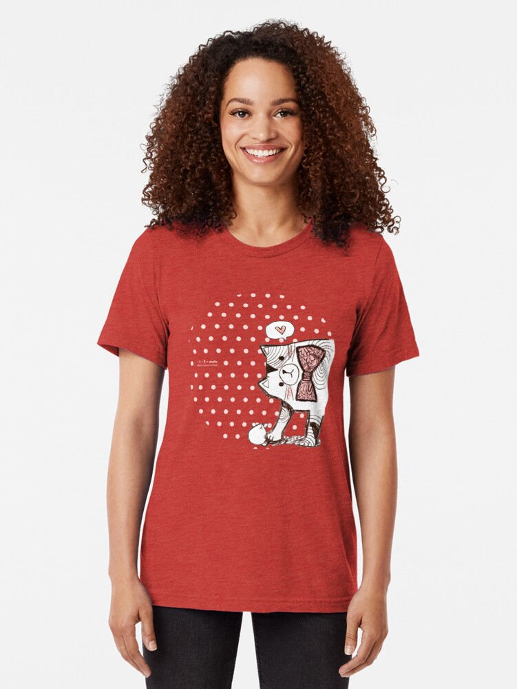 Alternate view of Play with me! Tri-blend T-Shirt