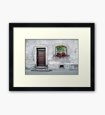 Simple old house facade. Framed Print