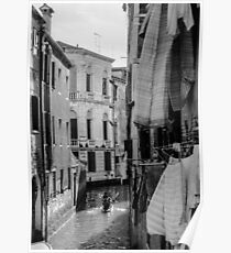 Washing Hanging in Venice Poster