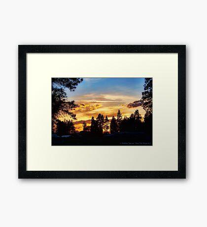 Return of the Sky Framed Print