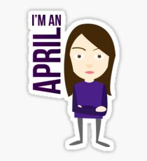 im an april Sticker