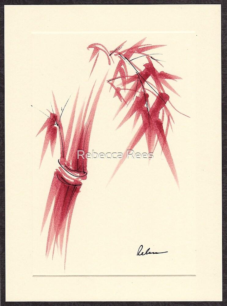 """Delicate"" - Original Huntington Gardens Plein Air Drawing by Rebecca Rees"