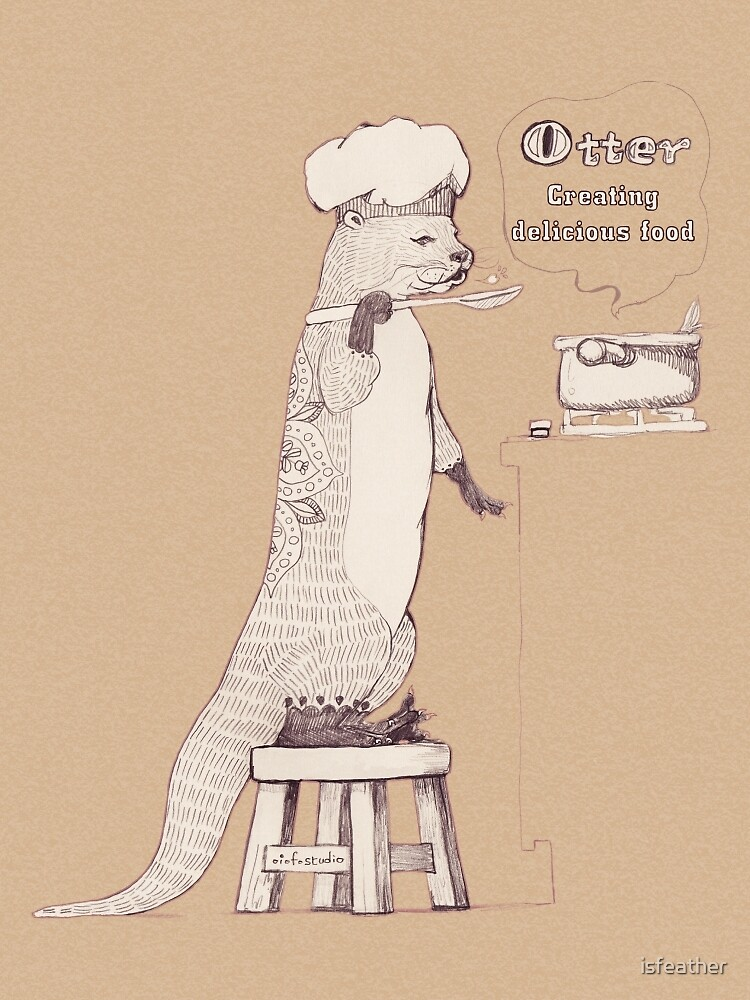 Creating delicious food - Otter-Burlywood by isfeather