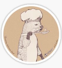 Creating delicious food - Otter-Burlywood Sticker