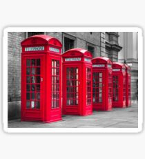 Telephone booths Sticker