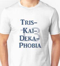 Triskaidekaphobia blue Unisex T-Shirt