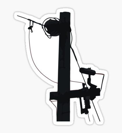power lines Sticker
