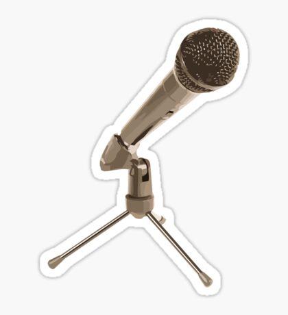 open mic Sticker
