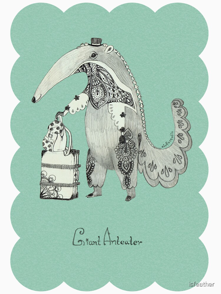 Beginning on your journey - Giant Anteater - Green by isfeather