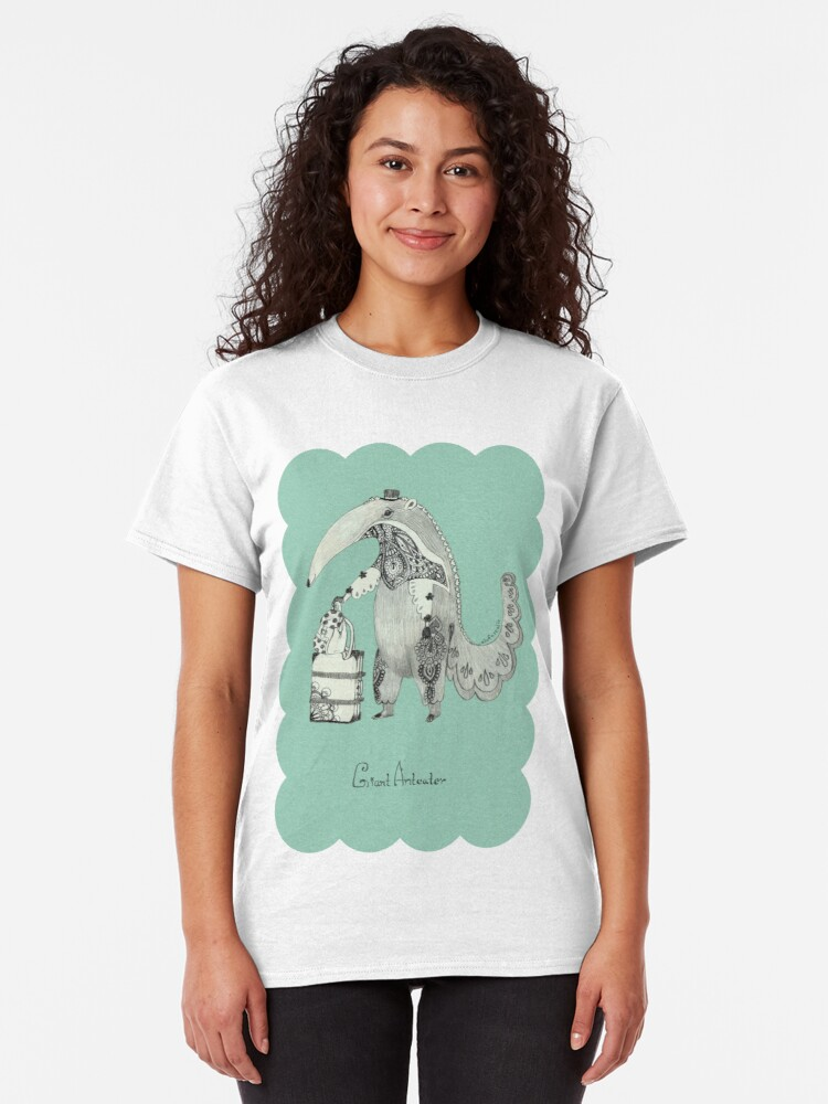 Alternate view of Beginning on your journey - Giant Anteater - Green Classic T-Shirt