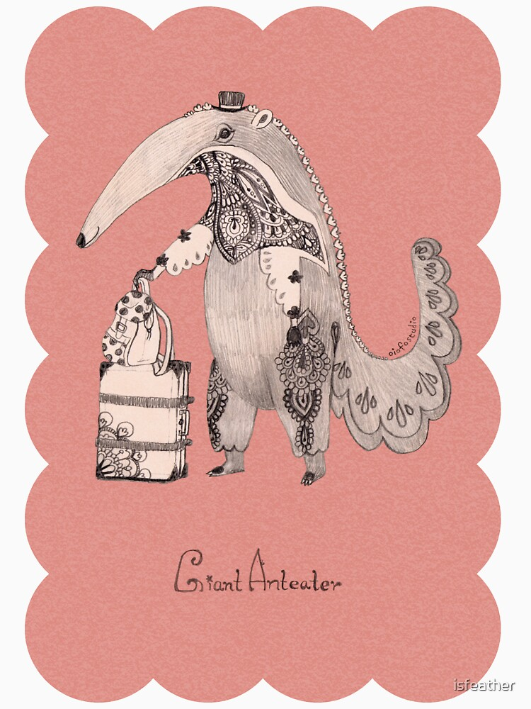 Beginning on your journey - Giant Anteater - Pink by isfeather