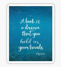 Neil Gaiman quote underwater Sticker