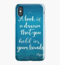 Neil Gaiman quote underwater iPhone Case/Skin