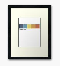 FLAT DESIGN COLOR THEME Framed Print